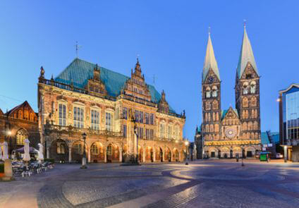 Bremen - Town Hall and Cathedral